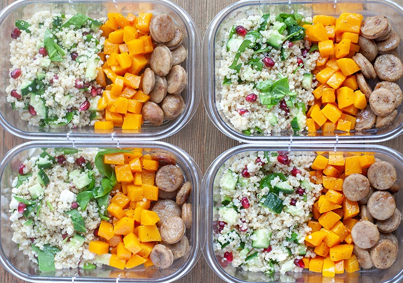 Chicken Sausage Meal Prep Bowls
