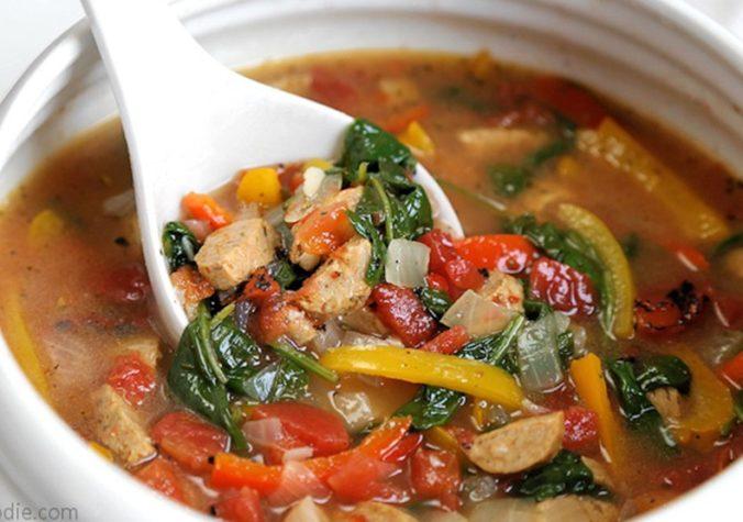 Chicken Sausage & Pepper Soup
