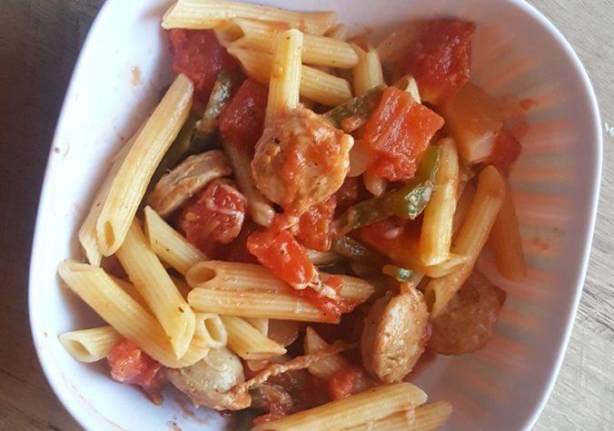 Italian Chicken Sausage Pasta Skillet