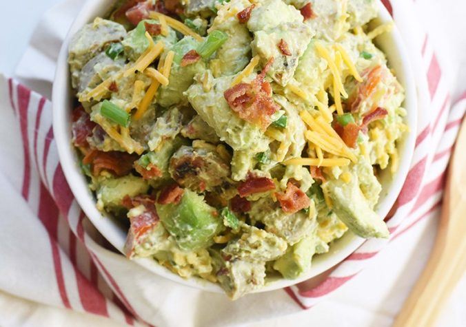 Keto-Friendly Salad with Chicken Sausage, Bacon, Cheese, and Avocado
