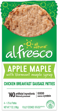 Apple Maple Chicken Breakfast Patty