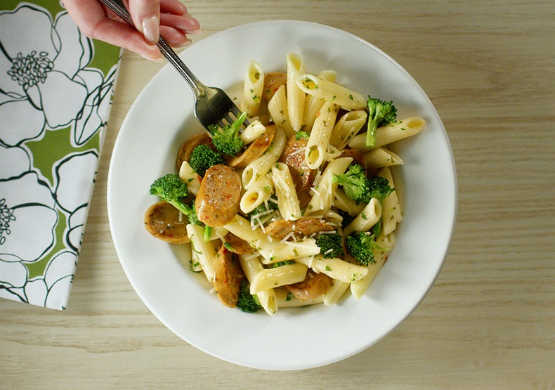 Chicken Sausage and Broccoli Penne