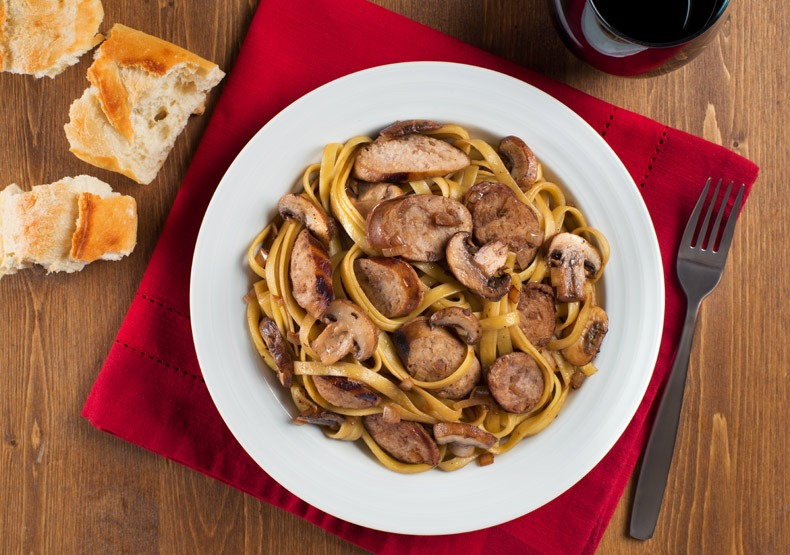 Sweet Apple Chicken Sausage Marsala