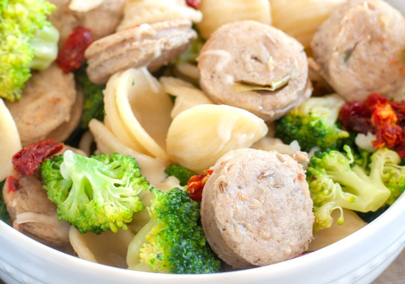 Orecchiette with Broccoli and Chicken Sausage
