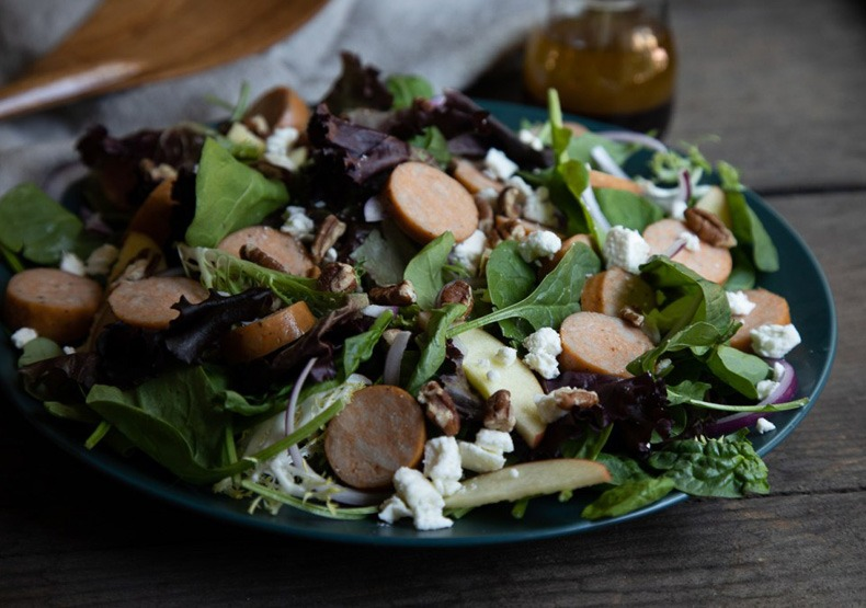 Fall Salad with Chicken Sausage