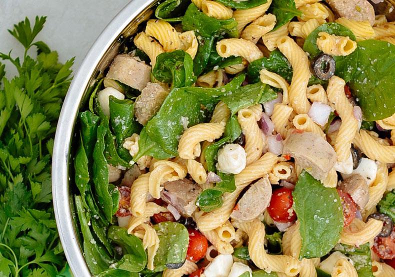 Italian Chicken Sausage Pasta Salad Meal Prep