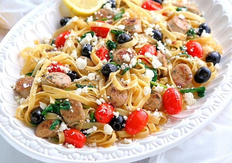 Mediterranean Chicken Sausage Pasta