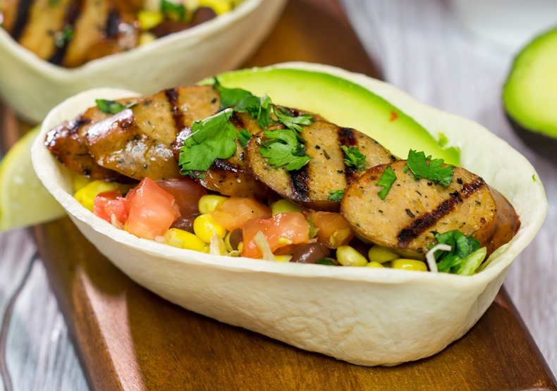Taco Bowls with Mild Mexican Chicken Sausage