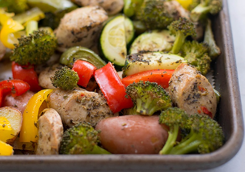 Sheet Pan Chicken Sausage and Vegetables