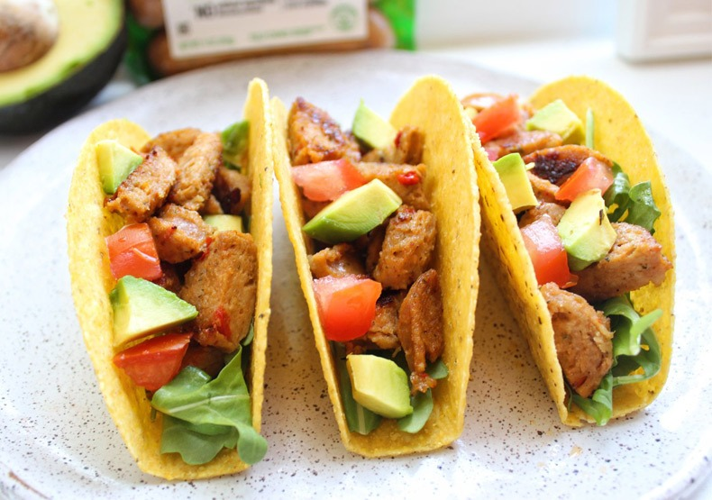 Red Pepper Chicken Sausage Tacos