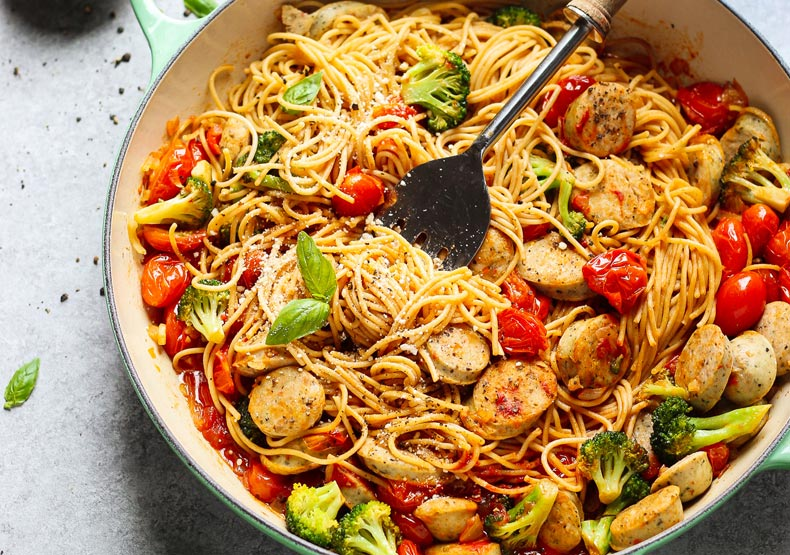 Chicken Sausage and Vegetable Pasta Skillet