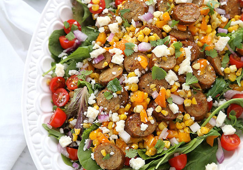 Mexican Chicken Sausage and Corn Salad