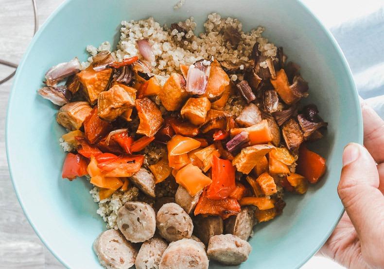 Roasted Veggies and Chicken Sausage Sheet Pan Recipe