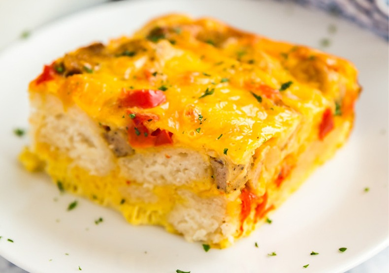 Bubble Up Chicken Sausage Breakfast Casserole