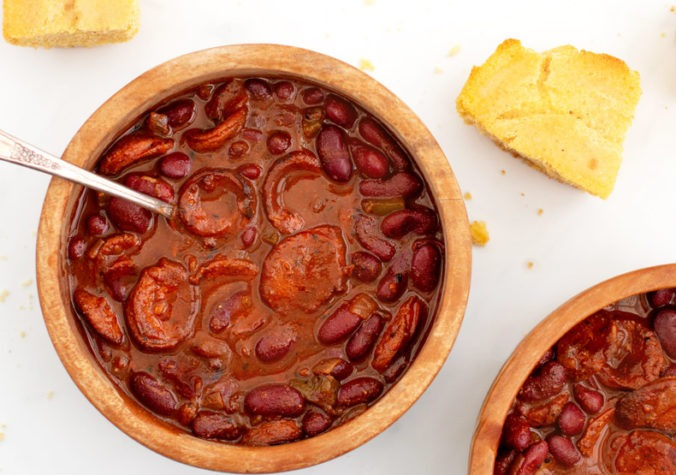 Simple Chili with Smoked Sausage