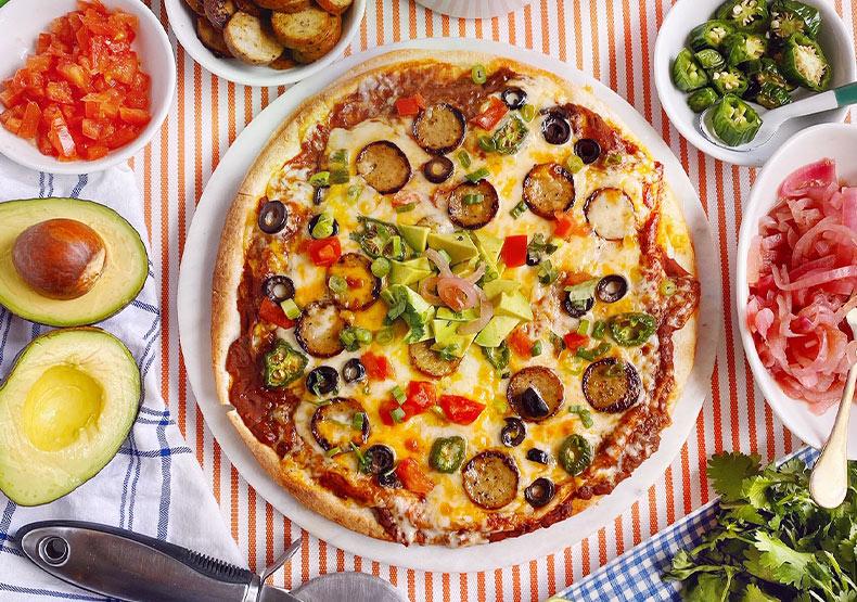 Chicken Sausage Quesadilla Pizza