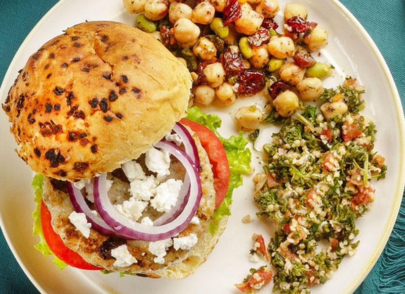 Greek Style Chicken Burger