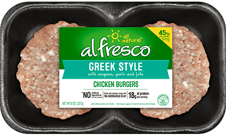 Greek Style Chicken Burgers