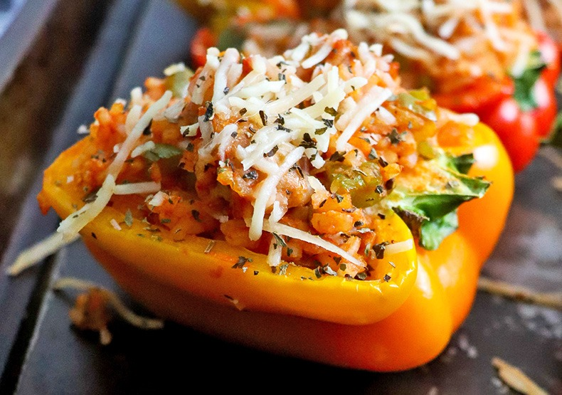 Chicken Sausage Stuffed Peppers