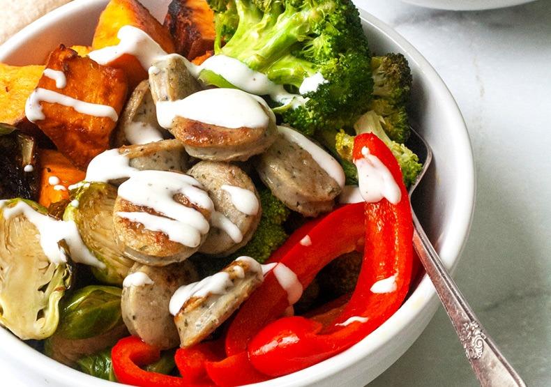 Paleo Chicken Sausage Veggie Bowls