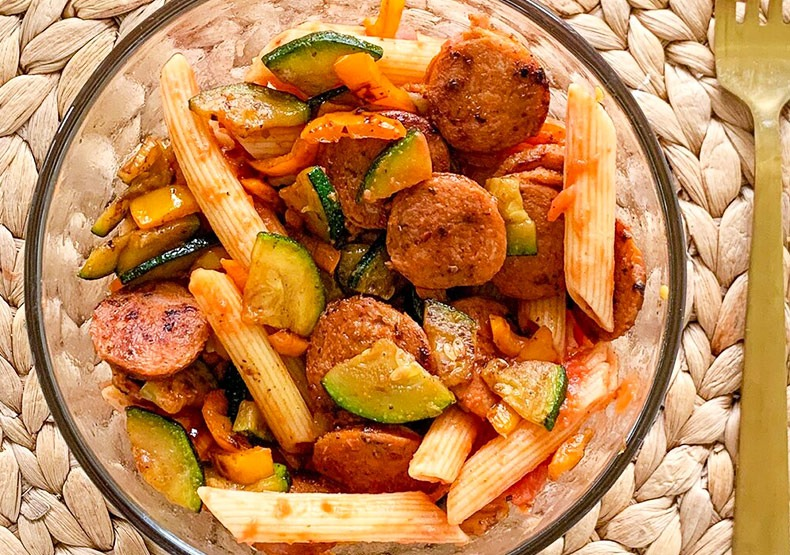Pasta Skillet with Chicken Sausage