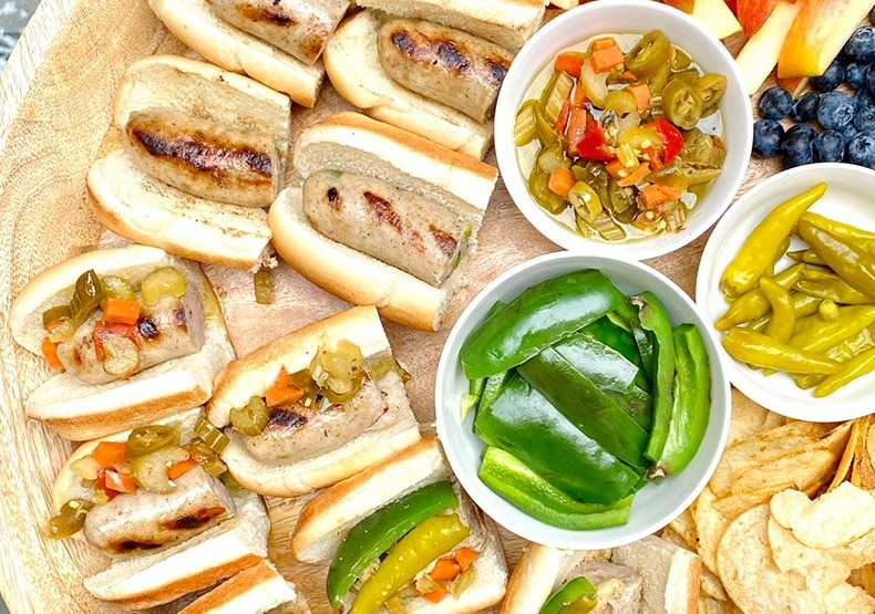 Chicken Sausage Football Sunday Snack Board