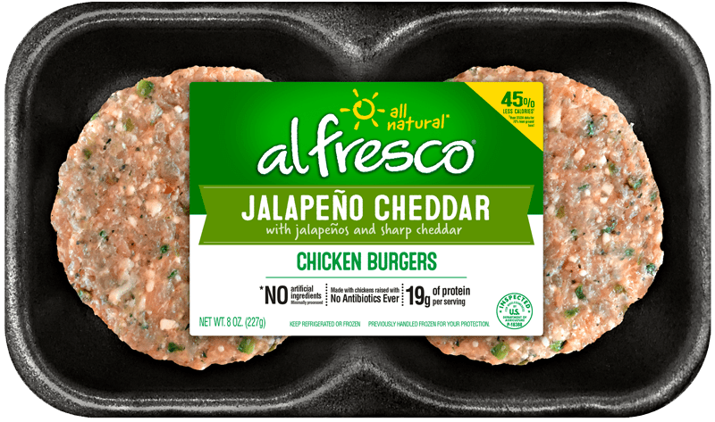 Jalapeno Cheddar Chicken Burgers