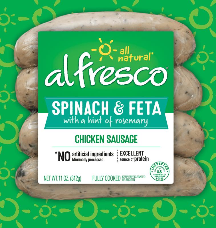 Spinach & Feta Chicken Sausage