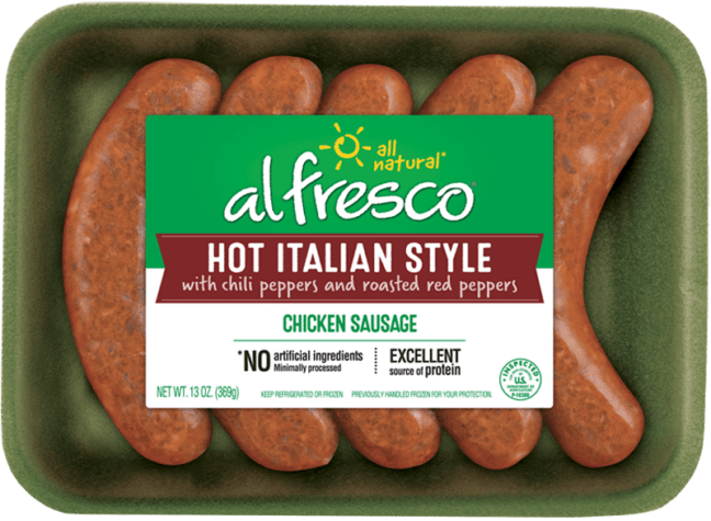 Hot Italian Style Chicken Sausage Fresh