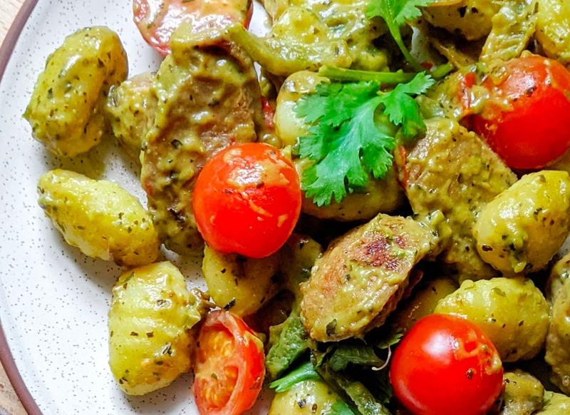 Italian Chicken Sausage & Pesto Gnocchi
