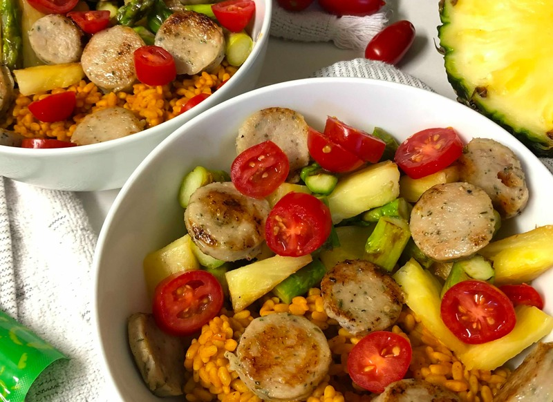 5 Ingredient Meal: Sausage with Spanish Rice