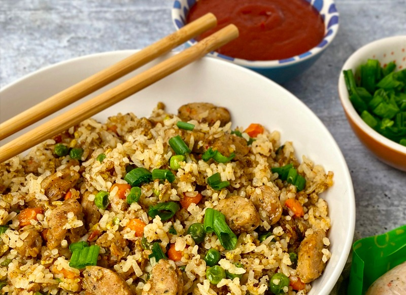 Asian-Inspired Chicken Fried Rice