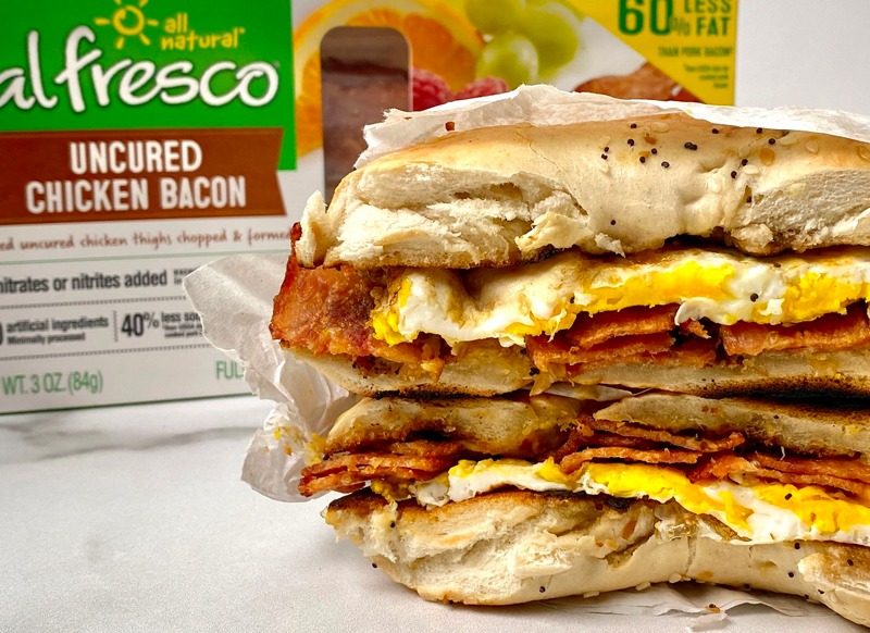 Bacon, Egg and Cheese Bagel Sandwich
