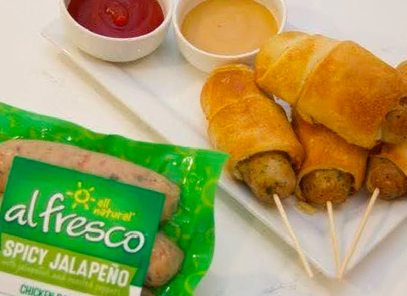Air Fried Jalapeño Corn Dogs