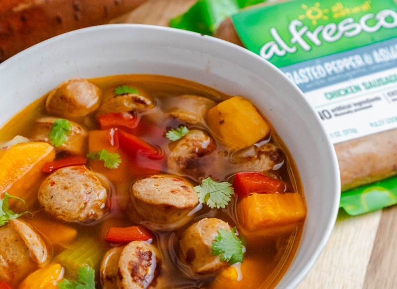 Sweet Potatoes & Sausage Stew