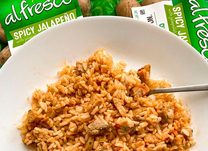 Simple Chicken Sausage Rice