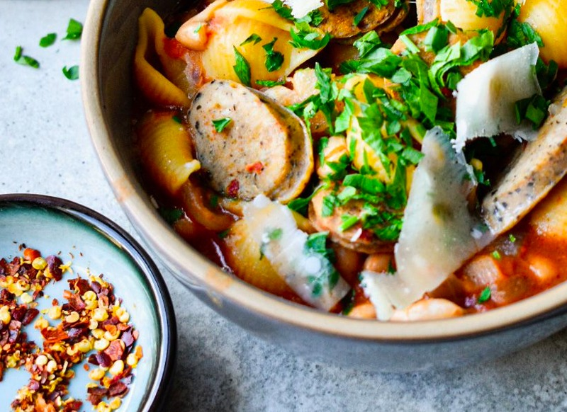 White Beans and Sausage Stew